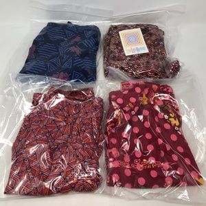 Lularoe bundle lot 4 pair OS One size leggings NWT